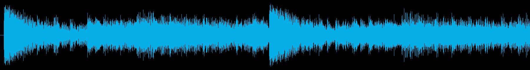 少し怪しさのあるロック-30秒Verの再生済みの波形