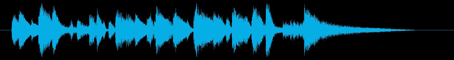 ジングル ジャズ ブルースの再生済みの波形
