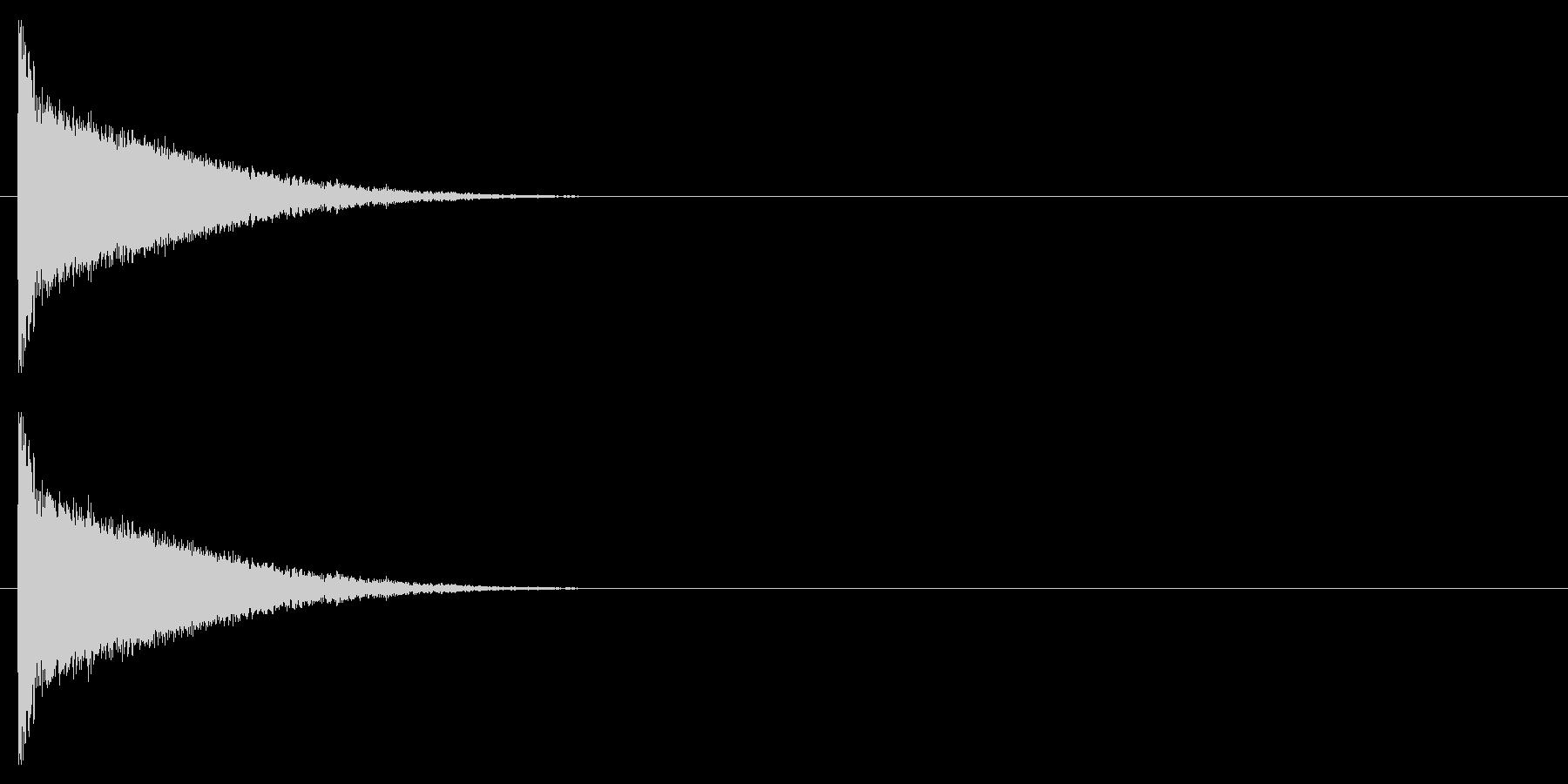 クラブ系 決定音06(シンセ)の未再生の波形