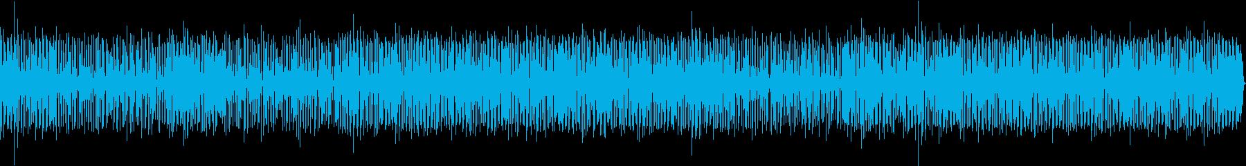 バンドサウンド軽快なファンクBGMの再生済みの波形