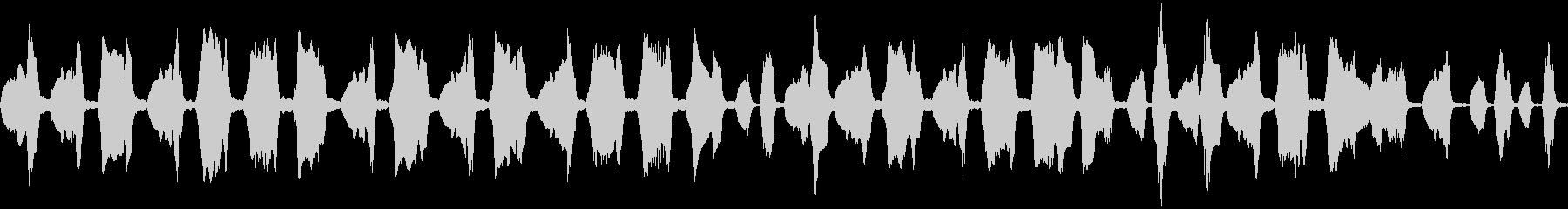フルートのほのぼのとしたかわいい曲の未再生の波形