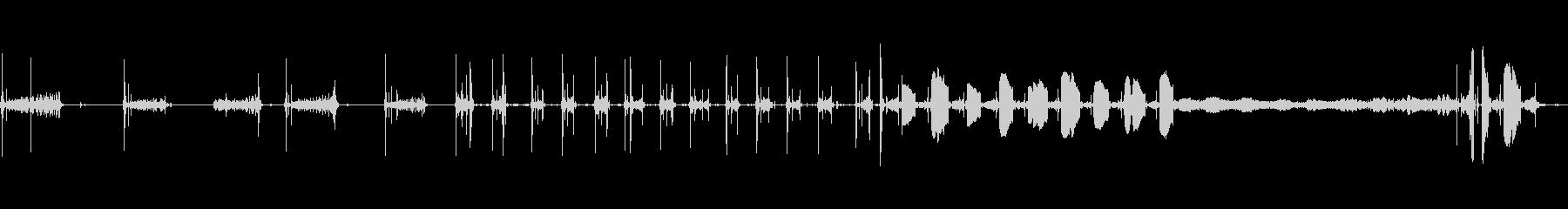 通信スキャナーのスキャン周波数が低...の未再生の波形