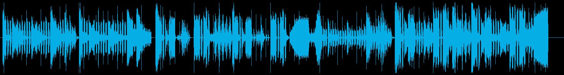 無調律で不思議な響きのBGMの再生済みの波形