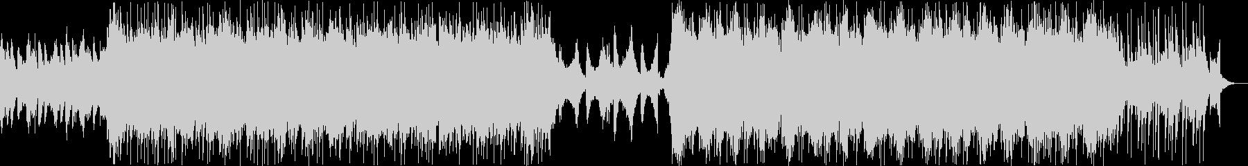 ストリングスとシンセのエピックトラックの未再生の波形