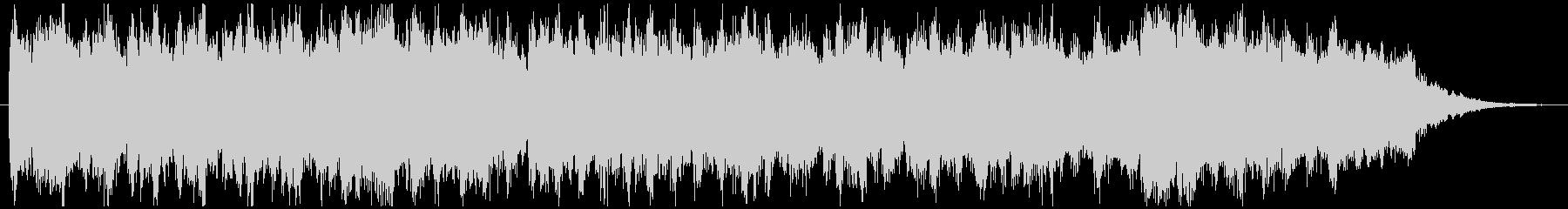 シンセサイザー系音色の約30秒のBGMの未再生の波形