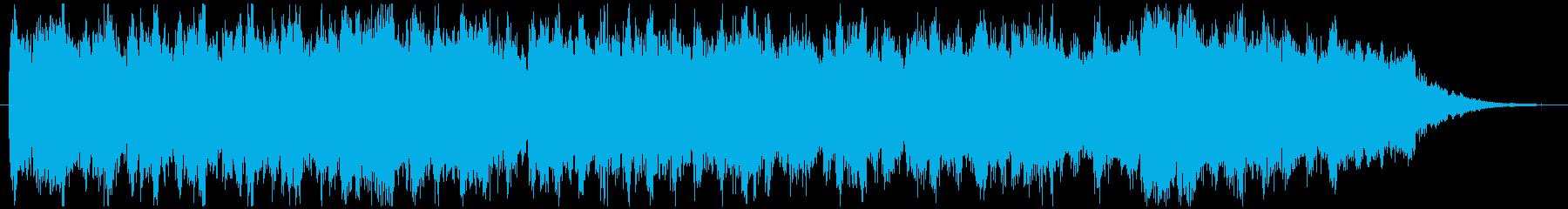 シンセサイザー系音色の約30秒のBGMの再生済みの波形