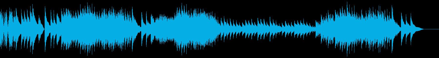 クラシック曲風の激しいピアノの再生済みの波形