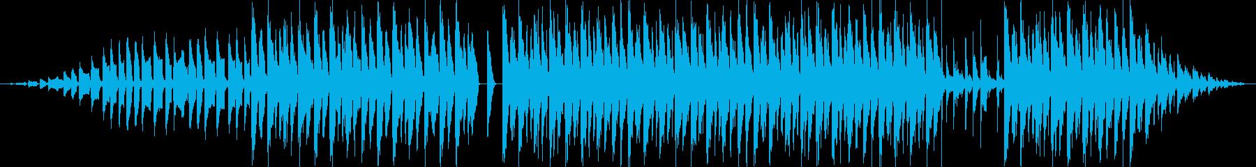 オルガンベースサウンドのクラブハウ...の再生済みの波形