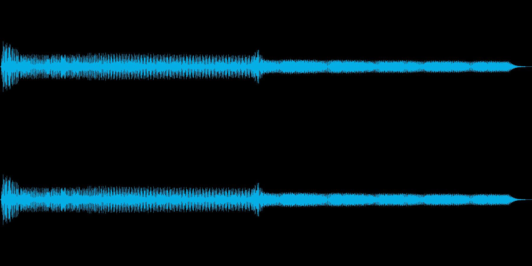アプリやゲームの決定音の再生済みの波形