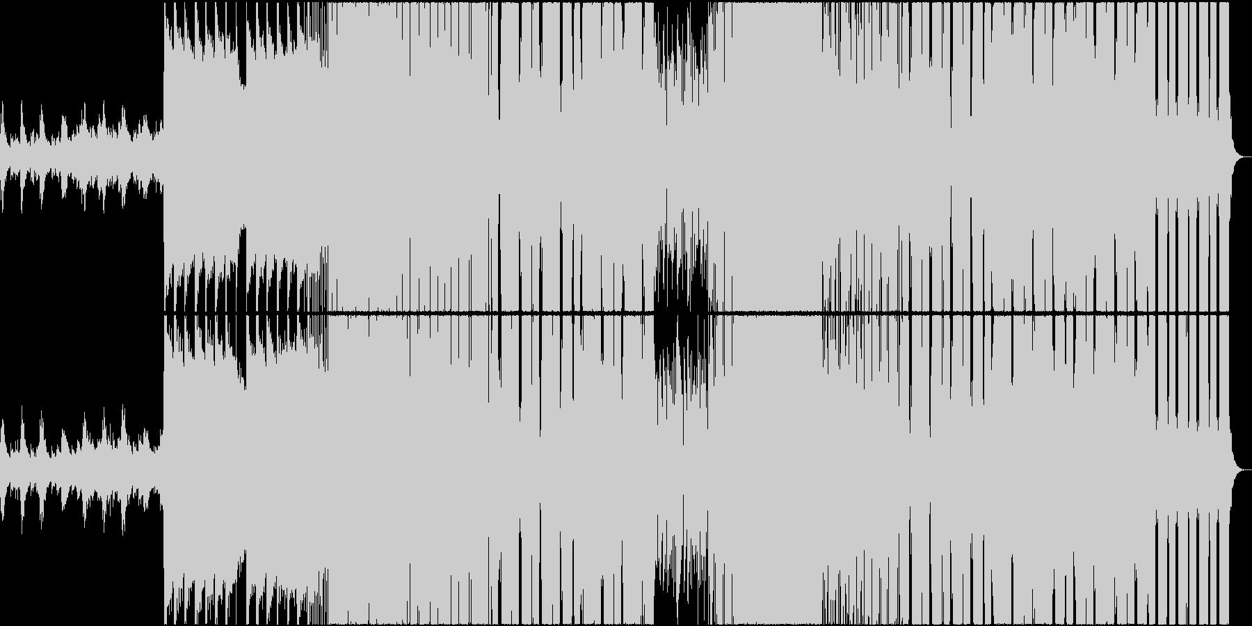 アップテンポな透明感フューチャーベースの未再生の波形