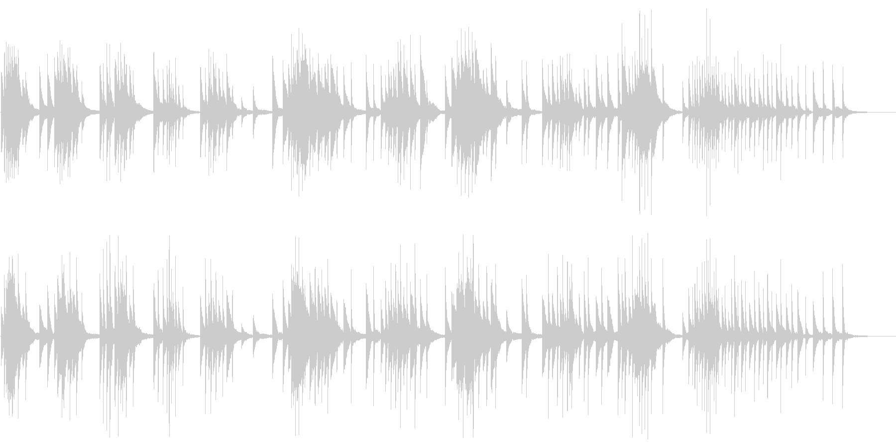 どこか不安定な印象のあるピアノサウンドの未再生の波形