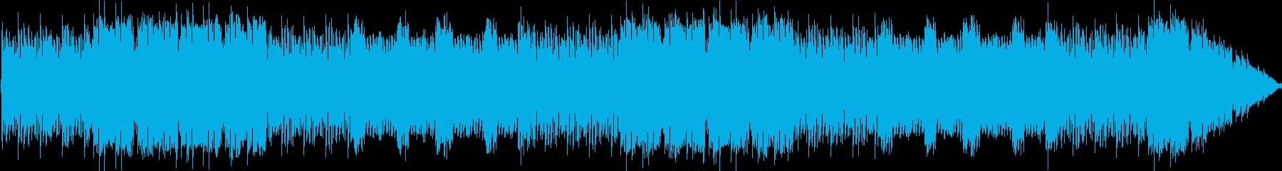 チップチューンによるフージョン系楽曲の再生済みの波形