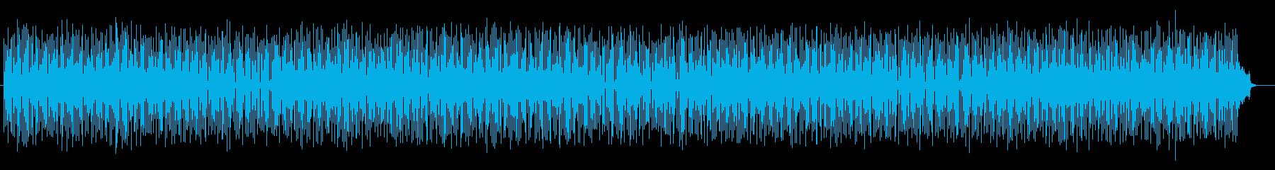 ドキドキ感と宇宙感のシンセサウンドの再生済みの波形