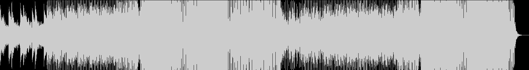 ゆったりしたバカンスのトロピカルハウスの未再生の波形