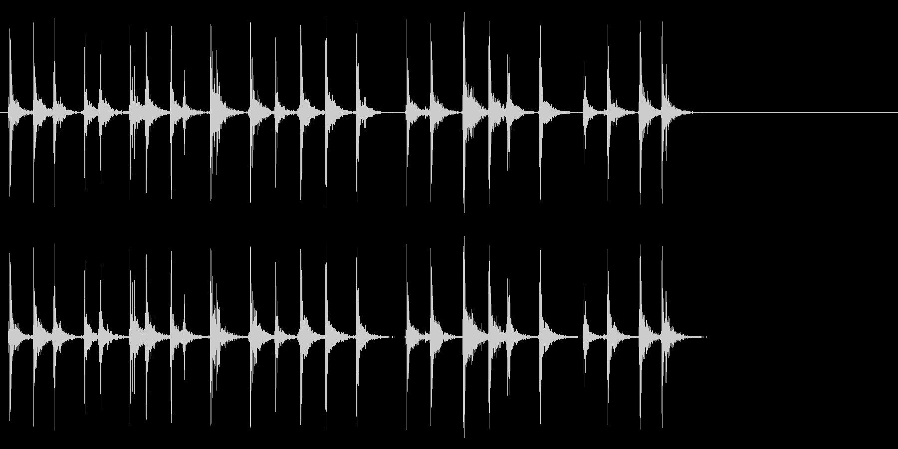 キーボードをカチャカチャと叩く音_2の未再生の波形