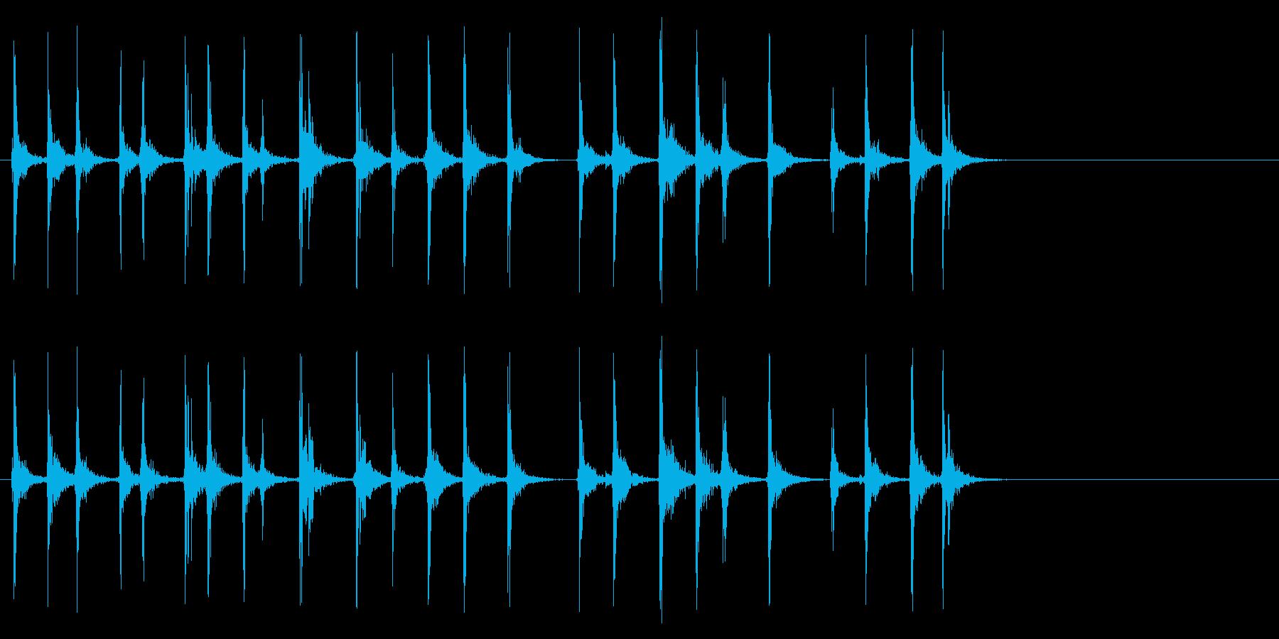 キーボードをカチャカチャと叩く音_2の再生済みの波形
