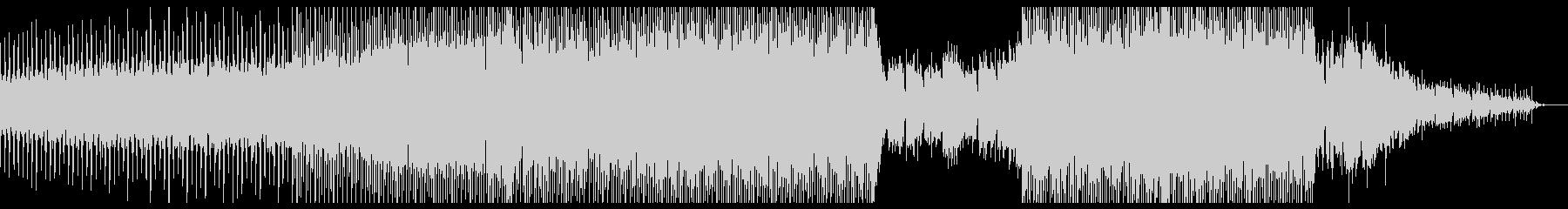 ワウギターカッティングを使ったハウスの未再生の波形