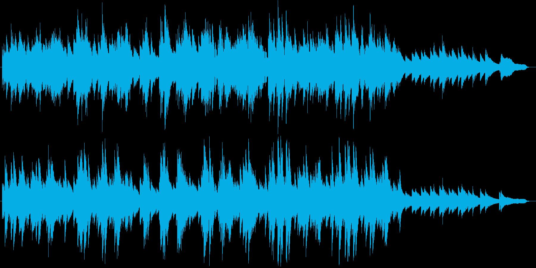 シャンソンのような雰囲気のピアノソロの再生済みの波形