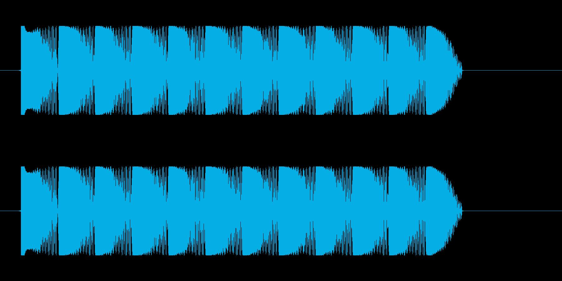 ビーム効果音 レーザー 連射 ピュピュの再生済みの波形