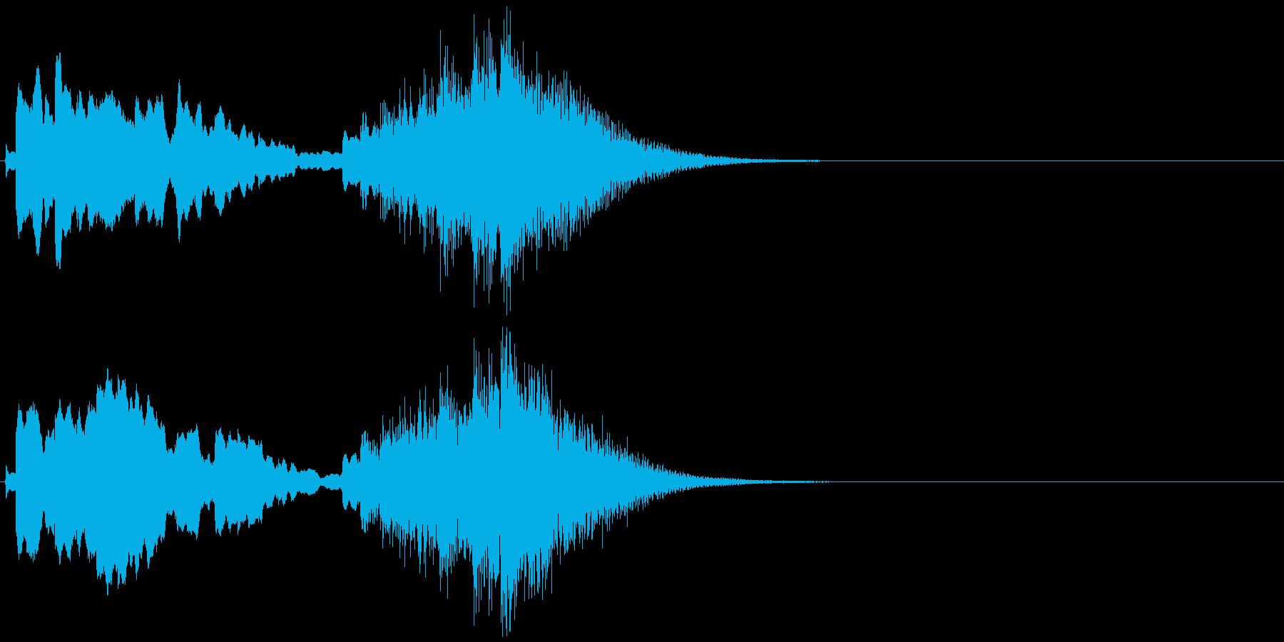 よく聞く箏(琴)のフレーズの再生済みの波形