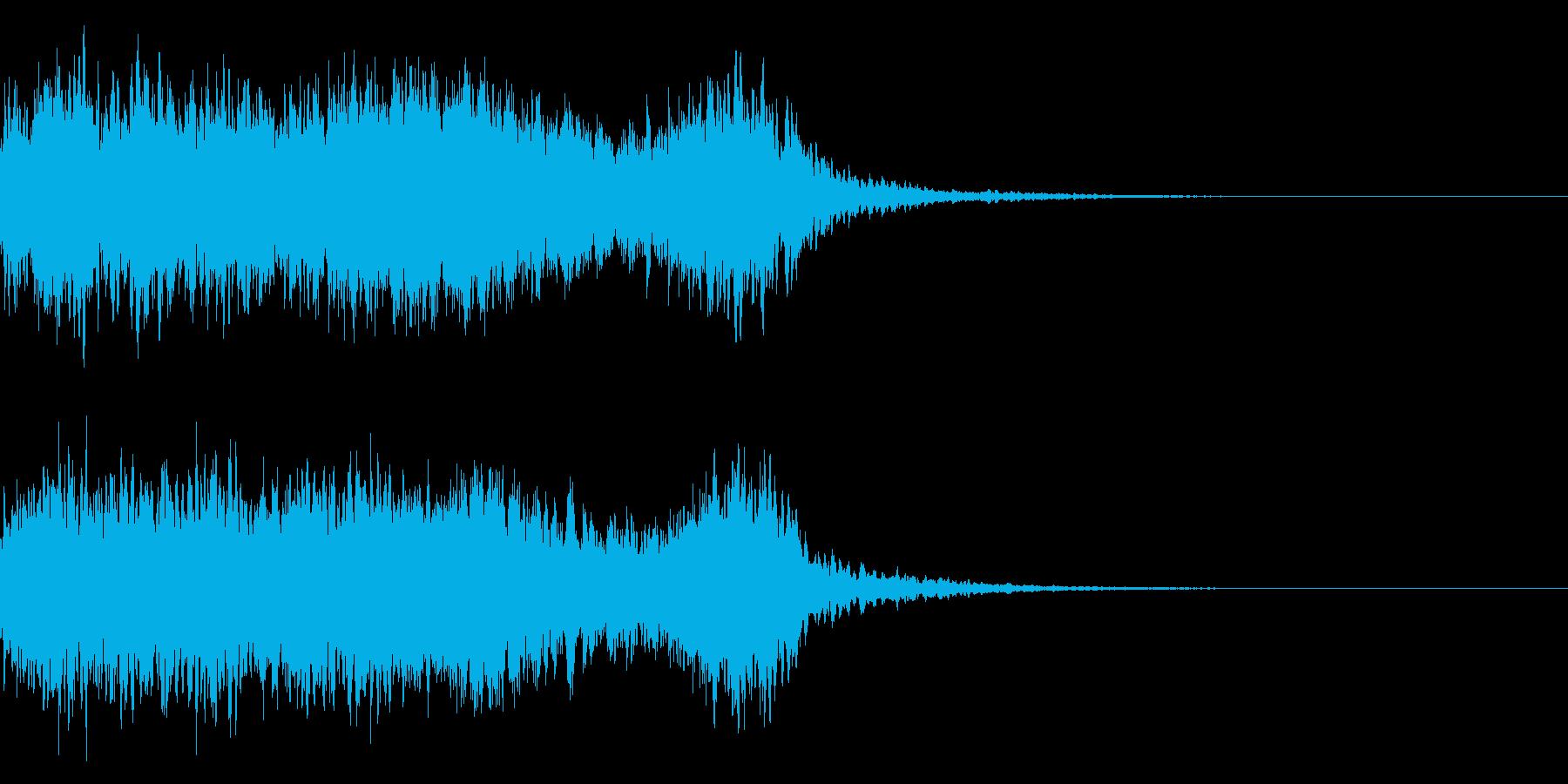 神社 結婚式の笛(笙)和風フレーズ!04の再生済みの波形