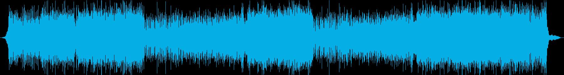 アップテンポで和風な沖縄風味の曲の再生済みの波形