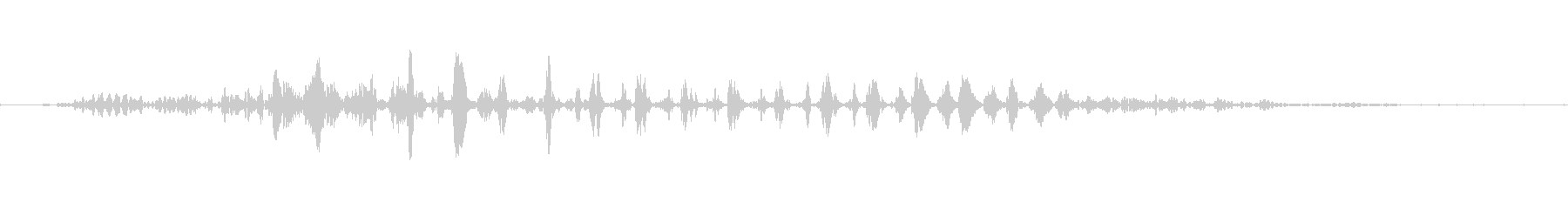 マイナス効果の魔法の効果音イメージ3の未再生の波形