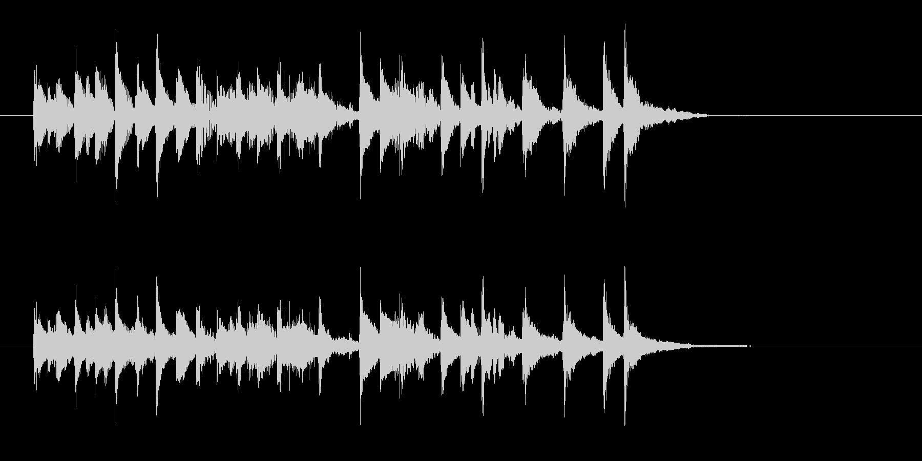 ポップで陽気な木琴ジングルの未再生の波形