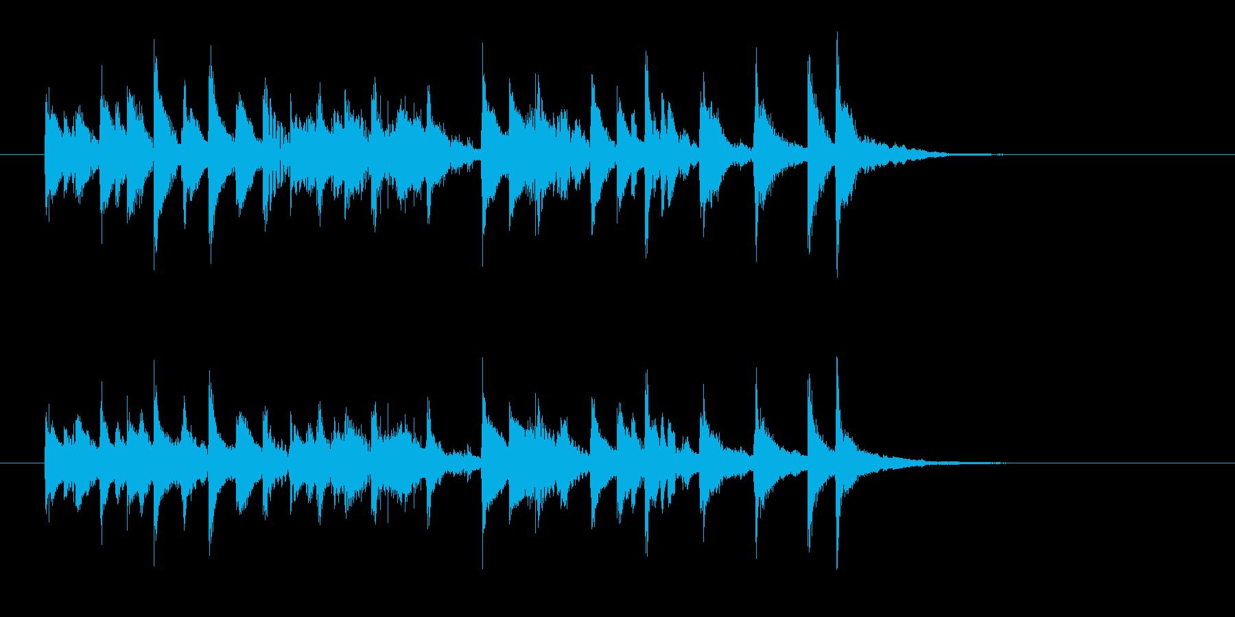 ポップで陽気な木琴ジングルの再生済みの波形