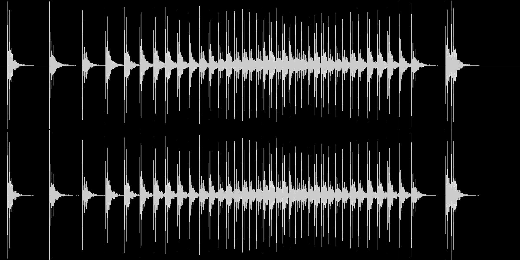 落語や劇場の開幕け時などに用いる拍子木の未再生の波形
