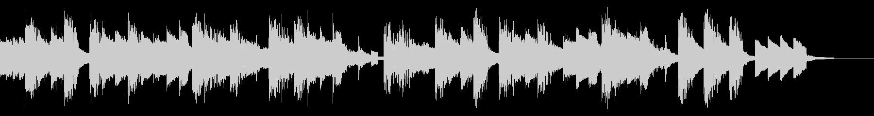 チップチューンのエンディングジングルの未再生の波形