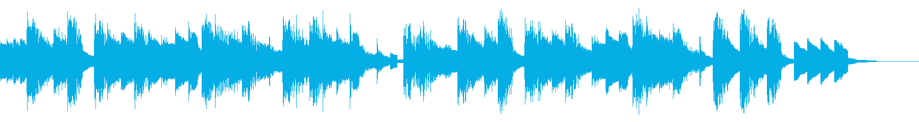 チップチューンのエンディングジングルの再生済みの波形