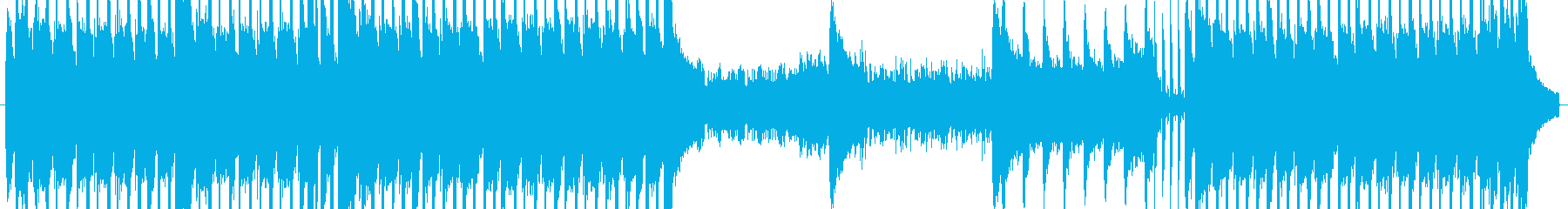 ギターサウンドのバトルミュージックの再生済みの波形
