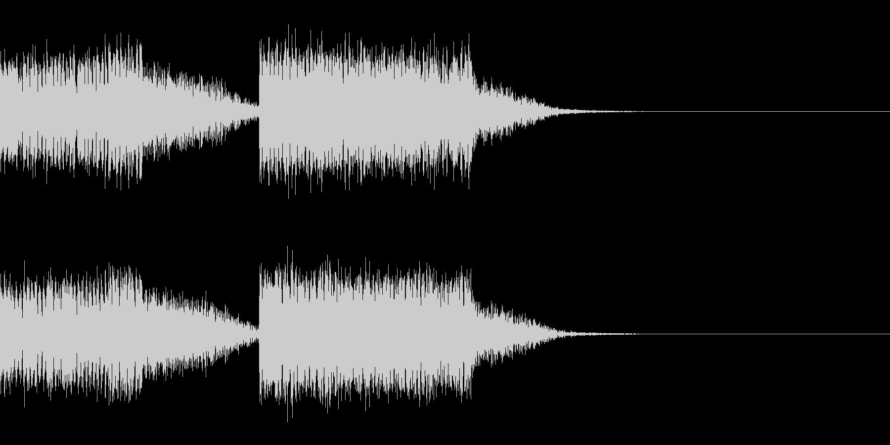スパーク音-01の未再生の波形