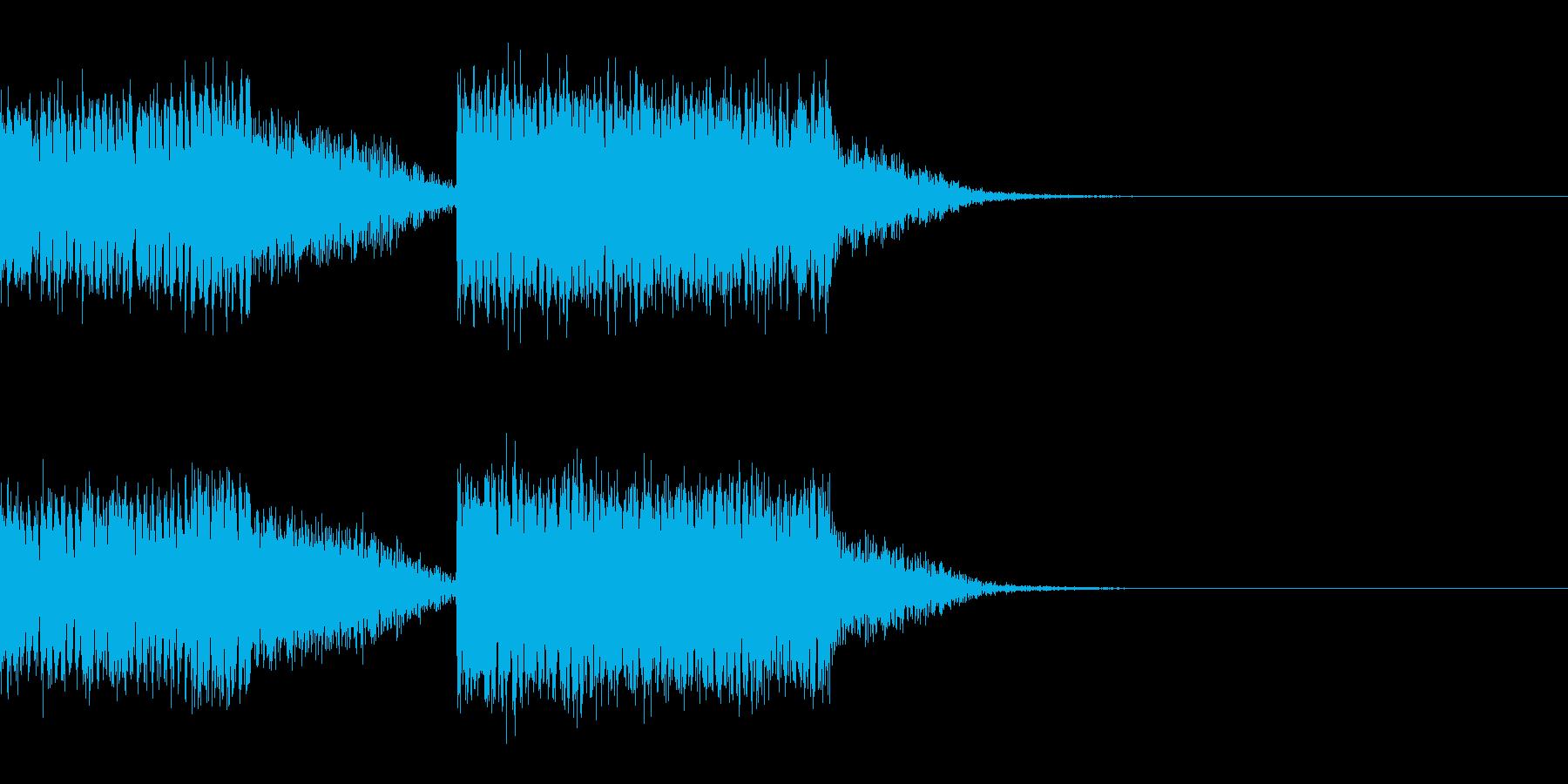 スパーク音-01の再生済みの波形