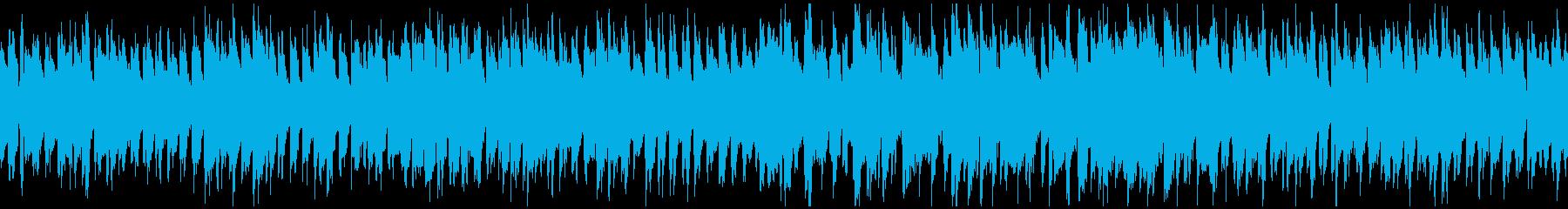 コミカルな行進っぽいリコーダー※ループ版の再生済みの波形