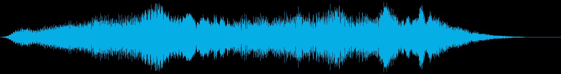LFE付きベッド地球外脈動パスの再生済みの波形