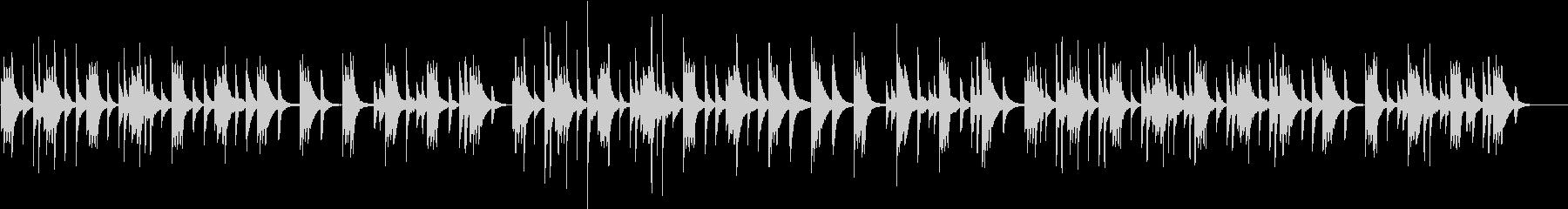 ピアノの音で作ったゆったりとした曲の未再生の波形