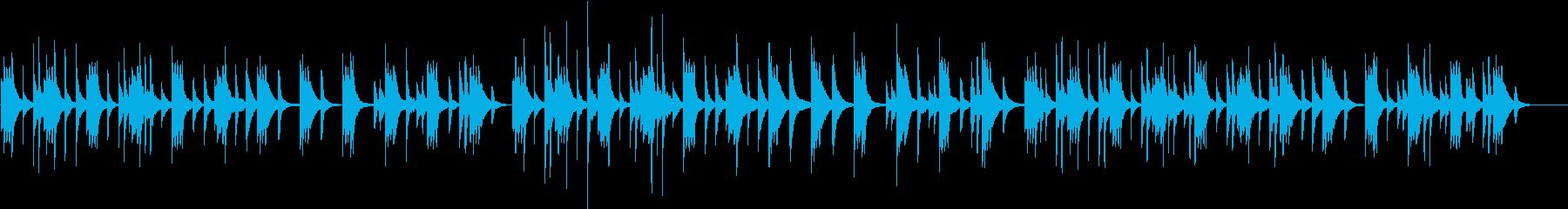 ピアノの音で作ったゆったりとした曲の再生済みの波形