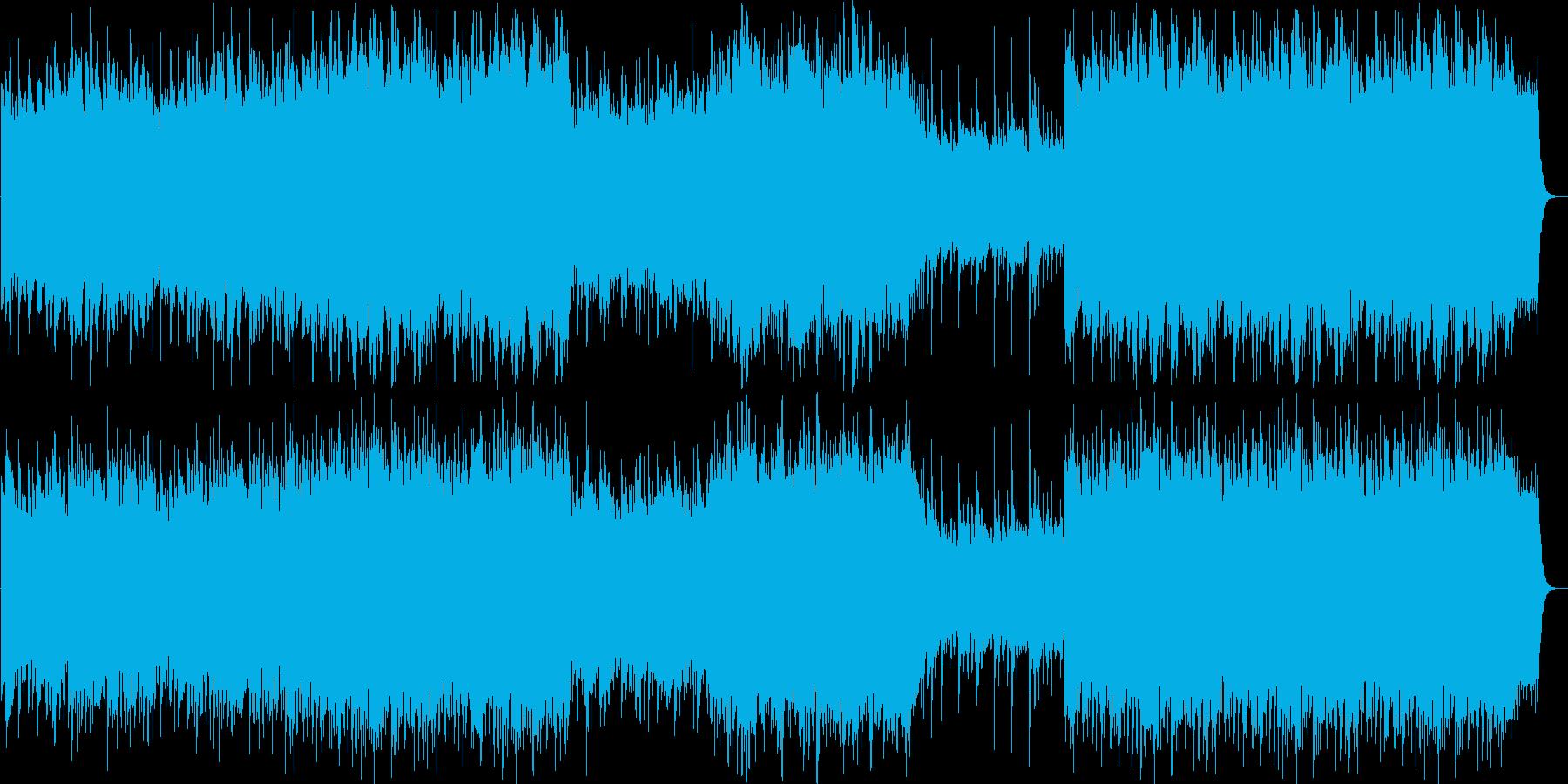 笛を主に使った軽やかなリラックスできる曲の再生済みの波形