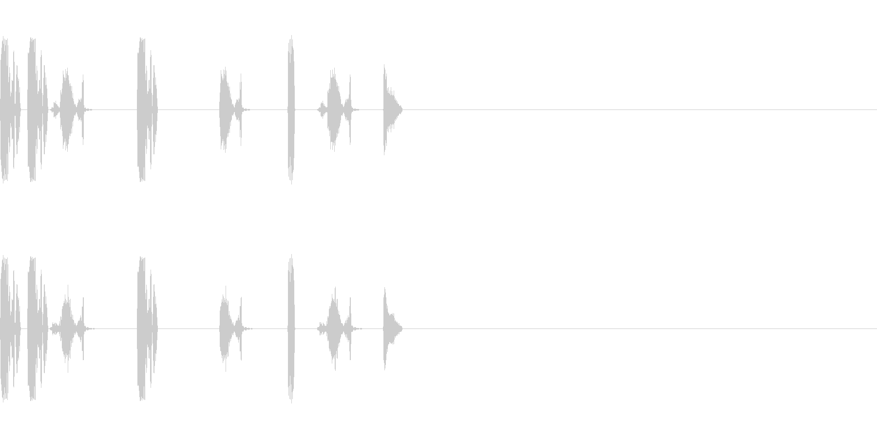 DJスクラッチ/ターンテーブル/E-08の未再生の波形