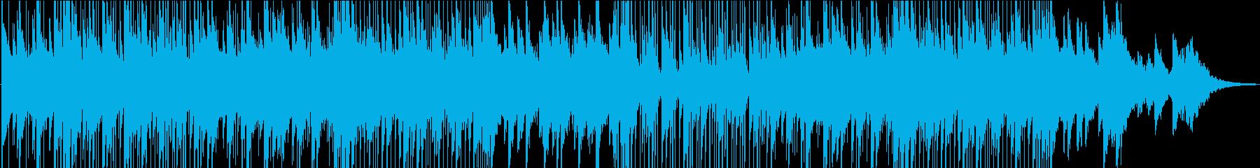 ロマンチックでのんびりとしたジャズ風音楽の再生済みの波形