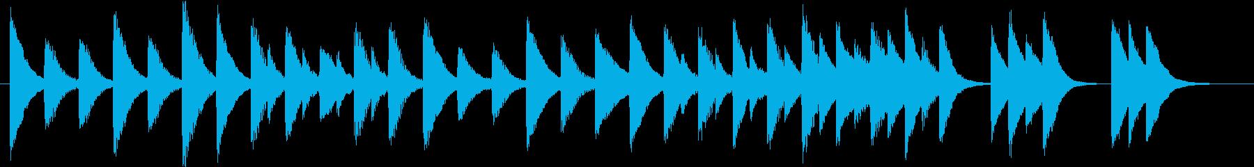 ワルツで♪童謡・春よ来いピアノジングルCの再生済みの波形