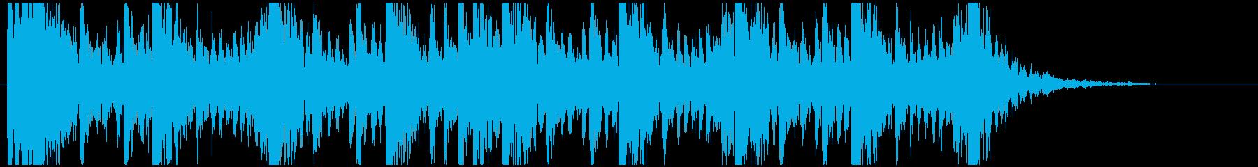 和太鼓のリズム2 残響ありBPM160の再生済みの波形