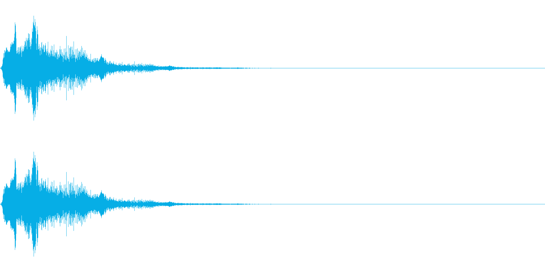 うわぁ(レトロゲーム音質の悲鳴)の再生済みの波形