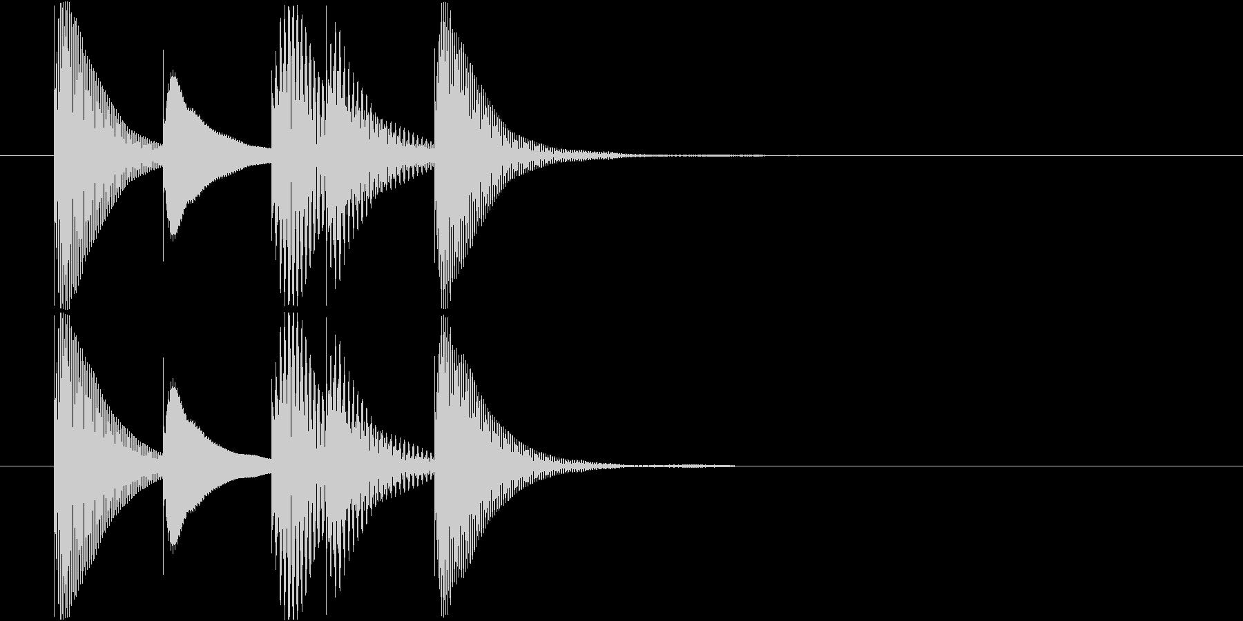 マリンバのアイテム入手音 テレレレレン2の未再生の波形