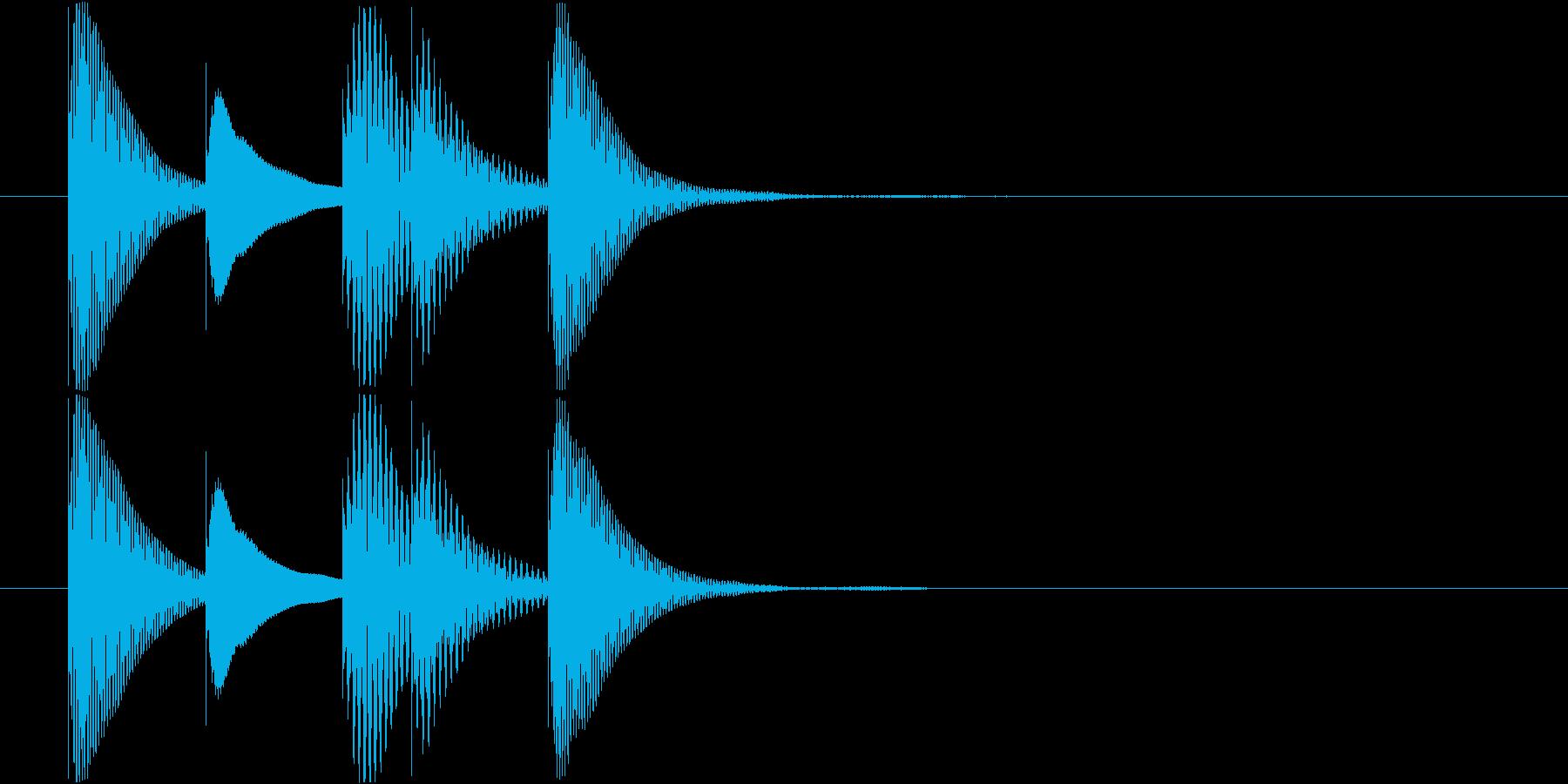 マリンバのアイテム入手音 テレレレレン2の再生済みの波形