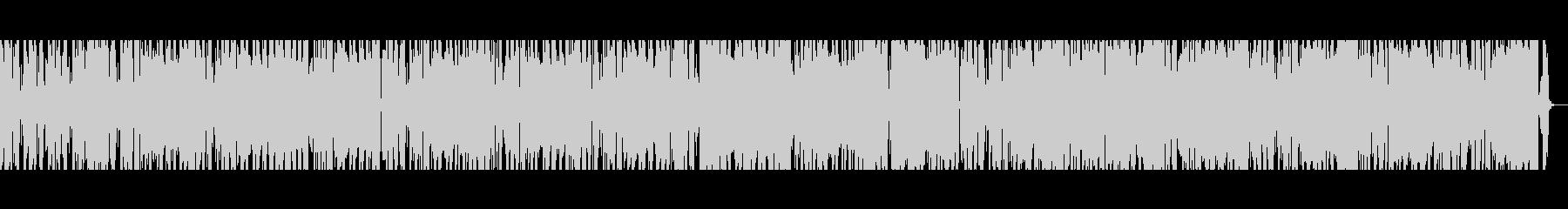 ファンクロックブルーススタイルのBGMの未再生の波形