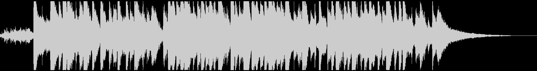 かわいい鉄琴メロの童謡「お正月」ボサノバの未再生の波形