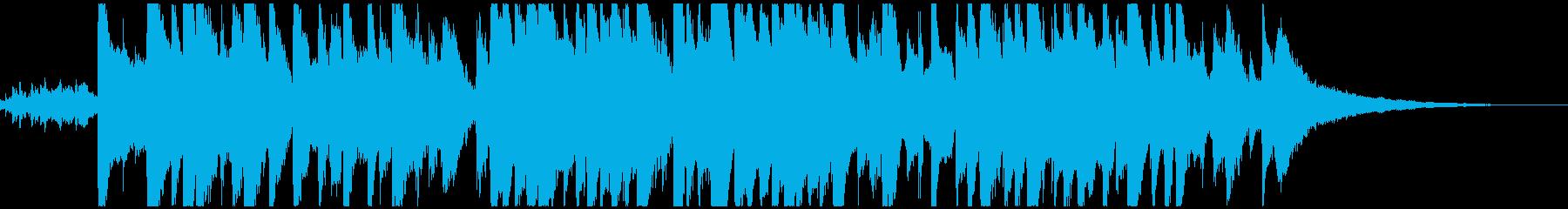 かわいい鉄琴メロの童謡「お正月」ボサノバの再生済みの波形